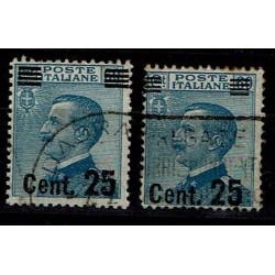 1924 Michetti sovrastampati Sas.178+179 usati 25c su 60 cent