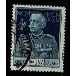 1925 Giubileo del Re 1lira Sas.187 usato D13 1/2