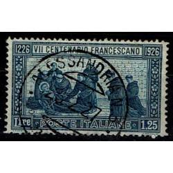 1926 S. Francesco Sas.196 Lire 1,25 usato D13 1/2