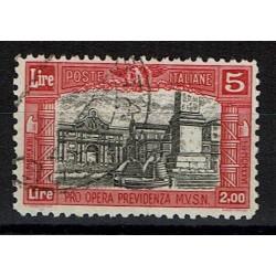 1928 Pro Opera Sas.223 Lire 5 annullato