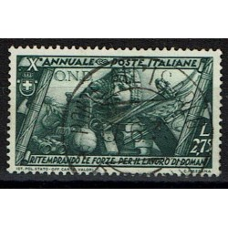 1932 Decennale Marcia Roma Sas.339 Lire 2,75 usato