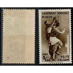 1934 Mondiali di calcio Sas.361 lire 5+2,50 MH/*