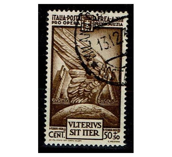 1935 Pro Opera Milizia PA Sas.A89 Cent 50 +50 usato