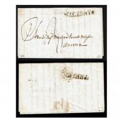 1849 Prefilatelica da Macerata ad Ancona con testo