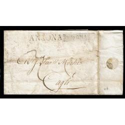 1806 Prefilatelica da Falconara (Ancona) a Cagli