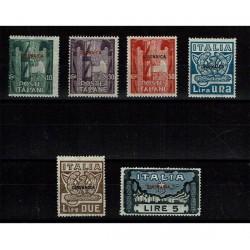 1923 Cirenaica Marcia su Roma serie integra MNH/**