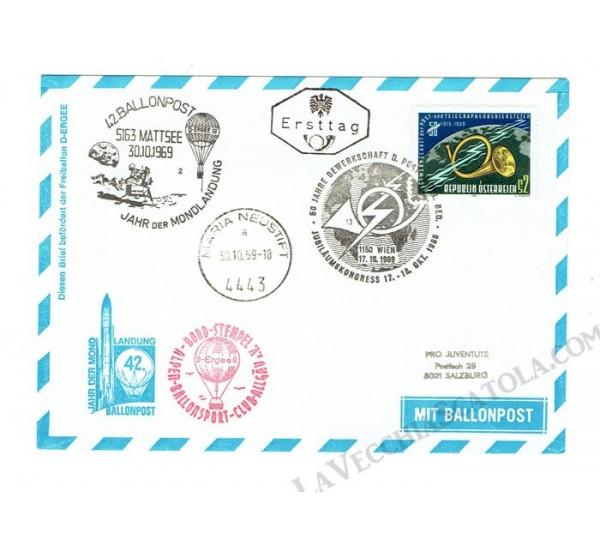 1969 Ballonpost n.42 Mongolfiera D-Ergee III da Maria Neustift