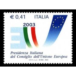 2003 Presidenza italiana unione europea MNH/**