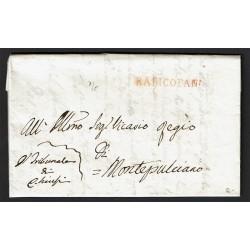 1828 Prefilatelica da Radicofani a Montepulciano con testo
