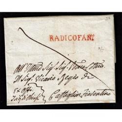 1824 Prefilatelica da Radicofani a Castiglion Fiorentino con testo