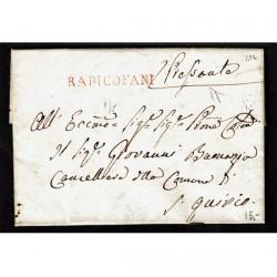 1821 Prefilatelica da Radicofani a San Quirico con testo