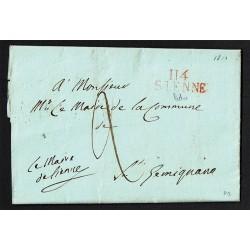 1810 Prefilatelica Siena a San Gimignano - Impero Francese con testo
