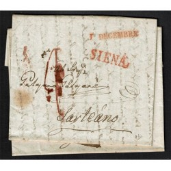 1830 Prefiatelica da Siena a Sarteano con testo