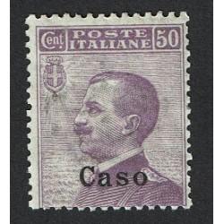 1912 Colonie Egeo Caso 50cent Sas.7 MNH/**