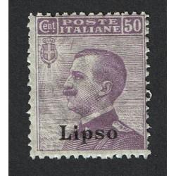 1912 Colonie Egeo Lipso 50cent Sas.7 MNH/**