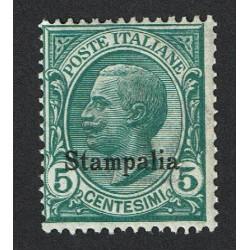 1912 Colonie Egeo Stampalia 5cent Sas.2 MNH/**