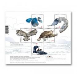 2017 Canada tematica uccelli foglietto MNH/**