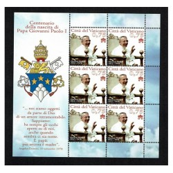 2012 Vaticano papa Giovanni Paolo I foglietto MNH/**