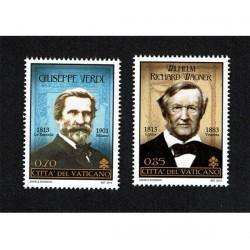 2013 Vaticano Giuseppe Verdi e Richard Wagner MNH/**