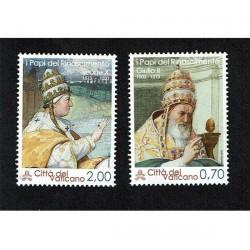 2013 Vaticano I pontefici del rinascimento MNH/**
