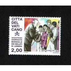 2013 Vaticano malati di lebbra MNH/**
