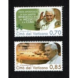 2013 Vaticano Viaggi del Papa nel 2012 MNH/**