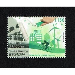 2016 Andorra Spagnola Think Green PostEurope MNH/**