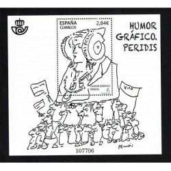 2015 Spagna Umore Grafico foglietto MNH/**