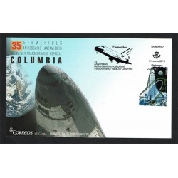 2016 Spagna FDC Space Shuttle Columbia Unusual