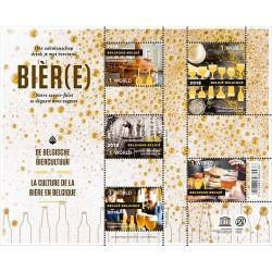 2018 Belgio La Birra Belga tradizionale - foglietto MNH/**
