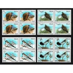 1995 Serie tematica: Uccelli Quartine MNH/**