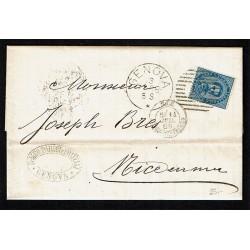 1989 Lettera con testo da Genova a Nizza ditta Parodi