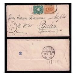 1898 Lettera da Prà (Genova) a Berlino - bicolore
