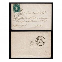 1891 Lettera Napoli per città Numerale su 5c Umberto I