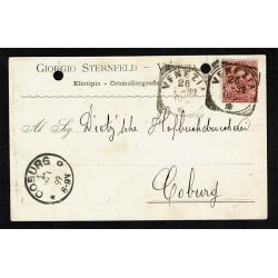 1899 Cartolina postale Giorgio Sternfeld da Venezia a Coburgo