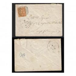 1883 Lettera da Torino a Lugo (Ravenna) Numerale 189