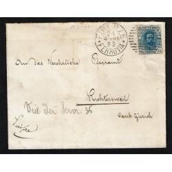 1996 25cent Umberto I isolato lettera per Richterswil (Svizzera) Numerale 174