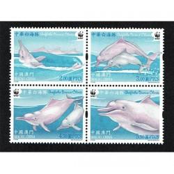 2017 Macao wwf Delfino bianco cinese MNH