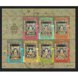 2017 Macao Thangka - Sette Buddha minifoglio MNH