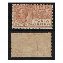 1926 Regno Posta Aerea 1,50Lire arancio Sas.6 MNH/**