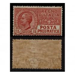 1927 Regno Posta Pneumatica 15c Sas.12 MNH/**