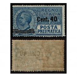1924 Regno Posta Pneumatica 40c su 30c Sas.7 MNH/**