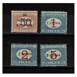 1922 Dalmazia segnatasse sovrastampati in corona MH/*