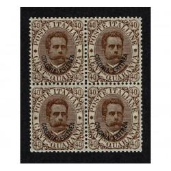 1893 Colonie Eritrea 40c Umberto I quartina MNH/**