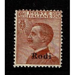 1922 Colonie Rodi 85c tipo Michetti sovrastampato MNH/**