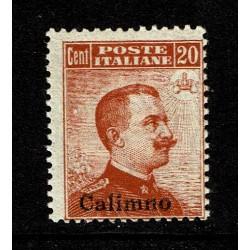 1917 Colonie Calimno 20c senza filigrana Sas.9 MNH/**