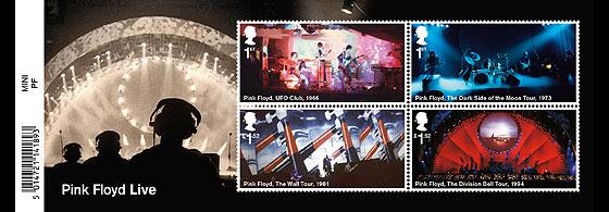 foglietto emissione francobolli pinky floyd