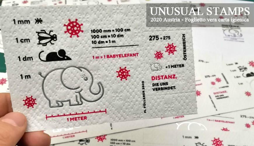 Unusual Stamps - Su carta Igienica